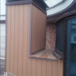 фасадные ДПК панели на вентшахте