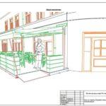 Визуализация в проекте террасы для кафе